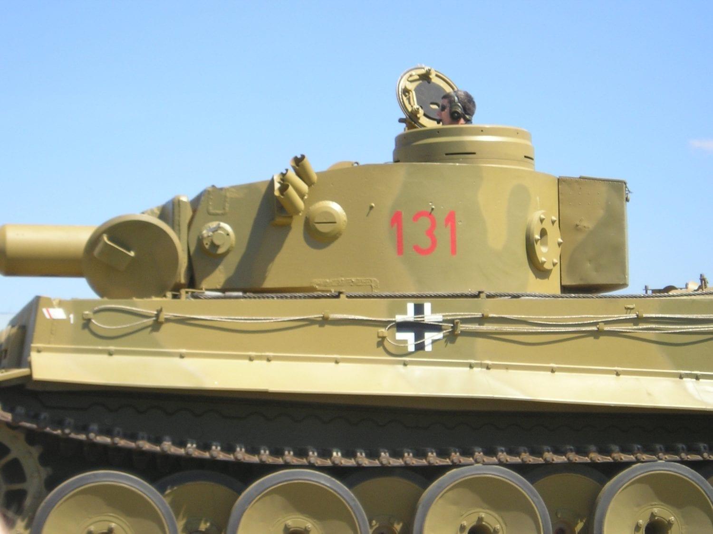 Mid Sized WW2 German Tank in operation