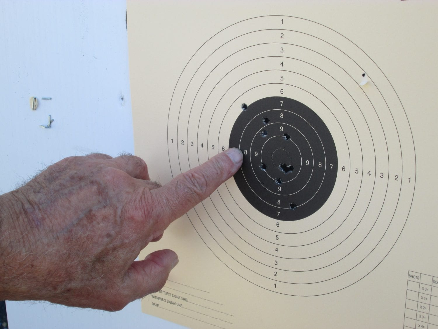 Target results with good grouping