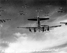 ww2 b52 bomers in flight