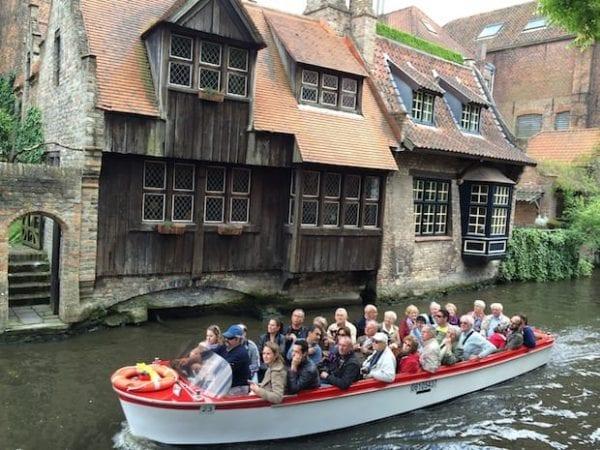 River boat ride in Bruges
