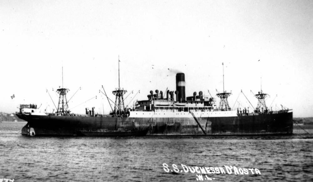 Italian 8,500-ton merchant vessel Duchessa d'Aosta